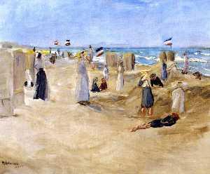 On the Beach at Noordwijk
