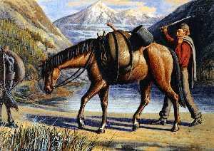 пакет лошадь , Athabaska Река , скалистых гор