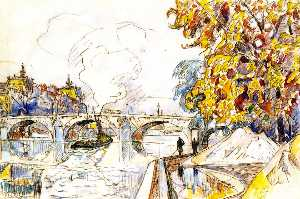 The Pont Royal with the Gare d'Orsay, Paris