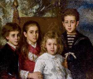 Portrait of the children of Paul Demidoff