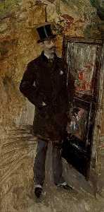 Portrait of a Man Wearing a Top Hat