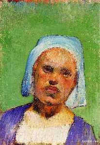 Portrait of a Pont-Aven Woman (Marie Louarn.)