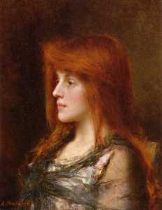 Portrait of a Young Beauty (also known as Reverie)