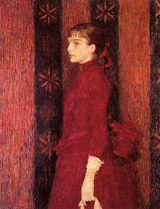 Portrait of a Young Girl in Red
