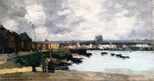 The Quays of Dieppe, after the Rain