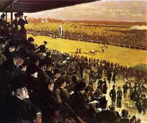 The Races at Longchamps from the Grandstand