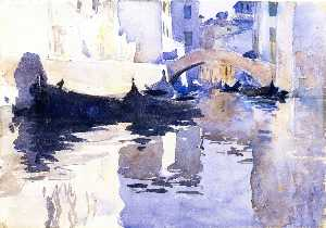 Rio di San'Andrea, Venice (also known as A View of Venice, with Empty Gondolas in a Canal)