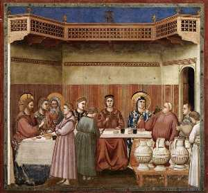 Scenes from the Life of Christ: 8. Marriage at Cana (Cappella Scrovegni (Arena Chapel), Padua)