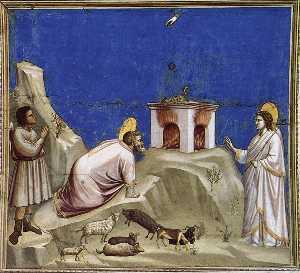Scenes from the Life of Joachim: 4. Joachim's Sacrificial Offering (Cappella Scrovegni (Arena Chapel), Padua)