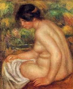 'Seated Nude in Profile (also known as Gabrielle)'