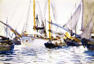 Shipping off Venice (also known as Boats at Anchor in the Lagoons, Venice)