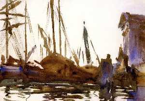 Shipping Venice: The Gesuati (also known as Boats on the Giudecca)