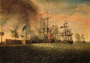 Sir Peter Parker's Attack Against Fort Moultrie