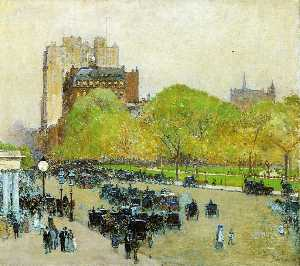Spring Morning in the Heart of the City (also known as Madison Square, New York)