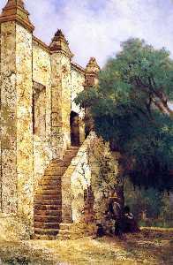 The Stairway, Mission San Gabriel, California