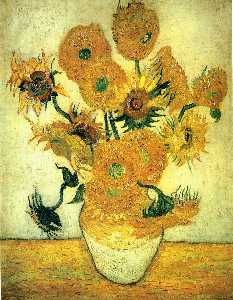 Still Life: Vase with Fourteen Sunflowers