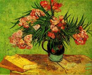 Still Life: Vase with Oleanders and Books