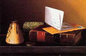 Still Life with Ink Bottle, Book and Letter (also known as Still Life with Universal Gazetteer)