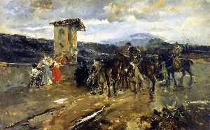 Stopping along the Way, Scene from Don Quixote