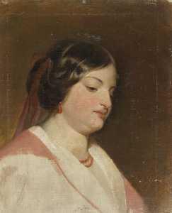 Study on the portrait of Fräulein von Heintl