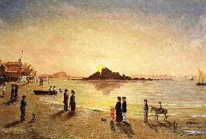 Sunset at Saint Malo
