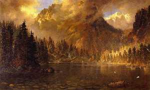 Tallac Mountain from Cascade Lake