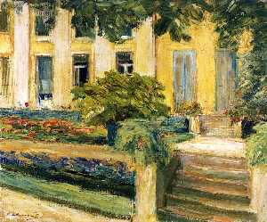 Terrace in the Garden near the Wannsee toward Southwest