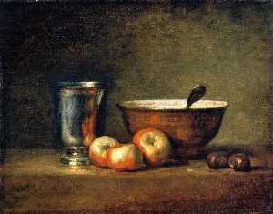 Three Apples, Two Chestnuts, Bowl and Silver Goblet (also known as The Silver Goblet)