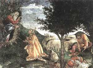 The Trials and Calling of Moses (detail 3) (Cappella Sistina, Vatican)