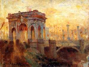 Triumphal Arch at Prince\'s Bridge, Melbourne