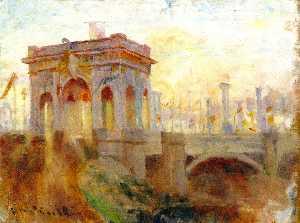 Triumphal Arch at Princes Bridge, Melbourne
