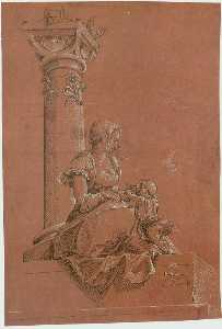 The Virgin and Child Before a Column