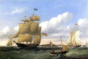 The Whaleship Emma C. Jones'' off Round Hills, New Bedford''
