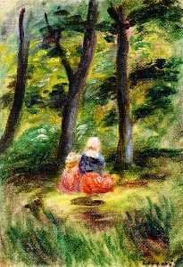 Woman and Child in a Landscape