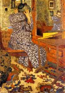 Woman Arranging Her Hair (also known as Mme Vuillard in front of the Mirror)