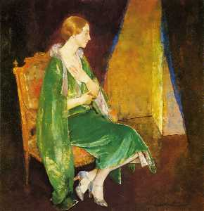 Woman in Green (also known as Portrait of Mrs. Crocket)