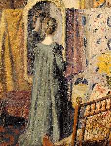Woman Standing in Front of the Mirror (also known as Madame Georges Lemmen)