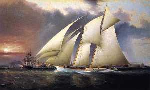 The Yacht Magic'' Defending America's Cup''