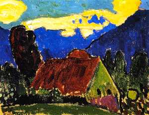 Yellow Clouds over Farmhouse