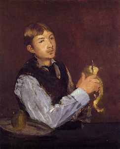 Young Man Peeling a Pear (also known as Portrait of Leon Leenhoff)