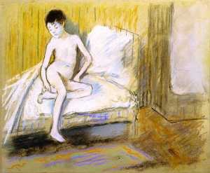 Young Nude on a Bed