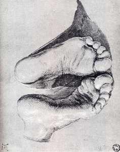 Feet Of A Kneeling Man