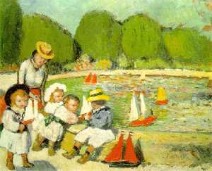 The pool of Tuileries