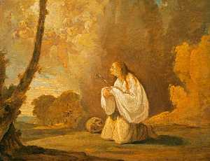The Penitent Saint Mary Magdalene In A Landscape