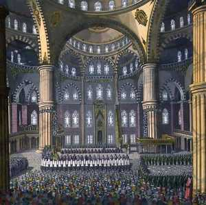 The Celebration Of The Festival Of Mewlod In The Mosque Of The Sultan Ahmed