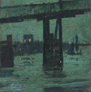 Old Battersea Bridge By Night