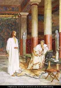 Jesus Being Interviewed Privately By Pontius Pilate