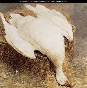 Still Life Of A Dead Goose With A Basket,