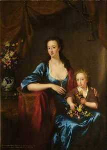 Anne), Countess Of Aberdeen, And Her Son, Lord William Gordon Of Fyvie