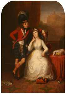 Marriage Portrait Of Lieutenant Colonel James Stewart To Williamina Kerr